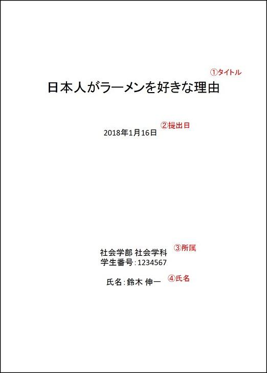 レポート 2000 字 程度